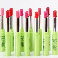 12 Pcs/Pack Women Cosmetic Makeup Aloe Moisturizing Waterproof Lipstick Rose Color Orange Changing Lipstick(China)