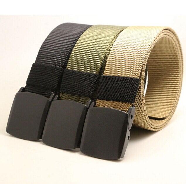 Men/'s Military Outdoor Sport Tactical Nylon Canvas Web Belt Quick-dry Waistband