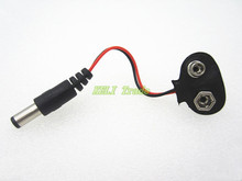 ! Experimental 9V battery snap power cable to DC 9V clip male line battery adapter for arduino uno r3