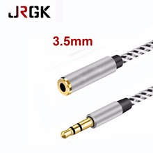 JRGK 3.5mm Audio Cable Male to Female Plug Jack Aux Extension Audio & Video Cables For iPhone Mobile Phones MP3 earphone Cord(China)