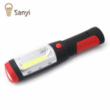 Sanyi Portable mini LED Flashlight Work Light lamp with Magnet & Rotating Hanging Hook for Outdoors camping sport & home use