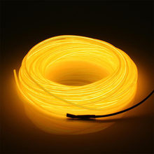 TSLEEN CHEAP+NEW HOT SALE NOVEL MULTIFUNCTION NEON 5M 3V BATTERY POWERED PORTABLE EL WIRE LED LIGHTS