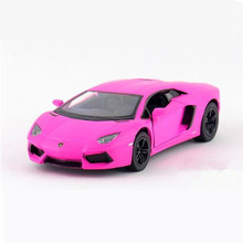 1:38 LP700 Diecast Metal + ABS Doors Openable Sport Cars Models, KINSMART 12.5cm Pull Back Toy Car Model Kids Toys / Brinquedos
