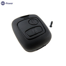 Hi-power Remote Auto Car Key Shell 2 Button Uncut Blade Fashion Car Styling For Peugeot 106 107 206 207 407 806 Black Key Cover(China)