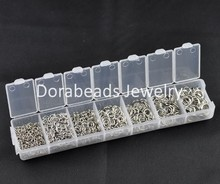 DoreenBeads 1 Box Mixed Open Jump Rings 3mm-8mm(1500 PCs Assorted) (B08914)