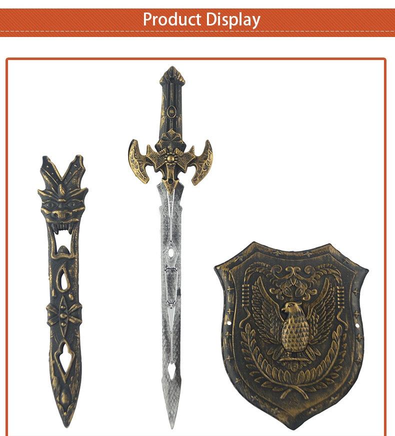 Barbarian Sword Warrior Gladiator Fancy Dress Conan Halloween Cosplay LARP Prop