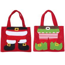 Xmas Santa Claus/Elf Gift Bags Merry Christmas Party Candy Bag Non-woven fabric Kids Gift Bags for Home Christmas decorations(China)