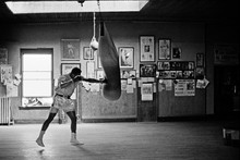 DIY frame Muhammad Ali Boxing training Super Star Sports monochrome Wall Decor posters art silk Fabric Poster