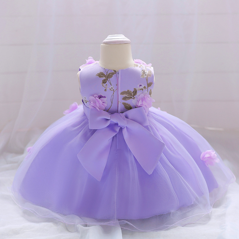 2018 Baby Girl Dress Summer Flower Infant Princess Wedding Dress Newborn 1 Year Birthday Party Dresses Baby Christening Clothes (5)