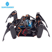 SunFounder Wireless Telecontrol Crawling Quadruped Robot Kit for Arduino Nano Electronic Diy Kit(China)