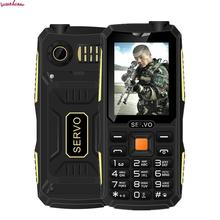 Original Servo V3 Russian Keyboard Unlocked Mobile Cell Phone Dustproof Shockproof 2.4'' 4 Sim Cards 4 Standby Gprs