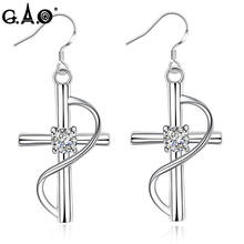 Buy Womens Cross Earring New Fashion Silver Color Statement Jewelry Women Jewelry Romantic Female Drop Earrings Dangle Earrings for $3.75 in AliExpress store