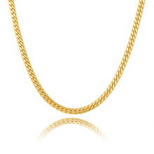 2017 NAKELULU new gold color/ Silver color necklace 6mm wide size men's jewelry, men's charm snake necklace