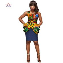 2019 New Fashion Africa Women Dresses Dashiki Sleeveless Made in China  Africa Style Clothing Plus Size 2bcb4db4a0f4