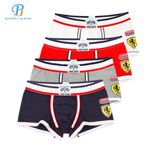 Buy Pink Heroes 4pcs/lot Men Underwear Boxers Cotton Underwear Men Boxer Sexy Print Low Brand Mens Underwear Shorts Boxers