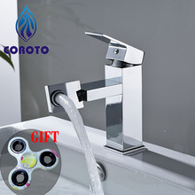 COROTO Bathroom Faucet 2017 New 360 Rotating Chrome Bathroom Basin Faucet Brass Mixer Tap Give Fingertip Gyroscope Free Gift