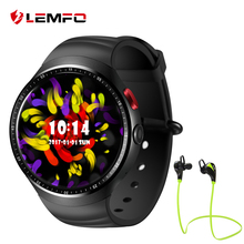 Hot Lemfo LES1 Android 5.1 Smartwatch 1GB + 16GB Wearable Devices Bluetooth Wifi Smart watch Wristwatch(China)