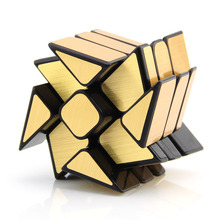 Fidget cube Magic Mirror Cub Gold/Silver cubo stress magico Cast Coated Puzzle Speed Twist learning education kids Toys(China)