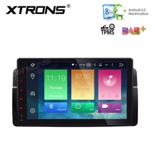 XTRONS 9'' HD Android 6.0 Octa 8 Core 1 Din Car DVD Player Radio GPS for BMW E46 M3 2000-2006 Rover 75 1999-2005 MG ZT 2001-2005