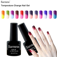 Sarness 8ml 3d gel lucky Chameleon Temperature Changing Color Nail gel polish 29 colors Choose Soak-off UV gel varnish Manicure