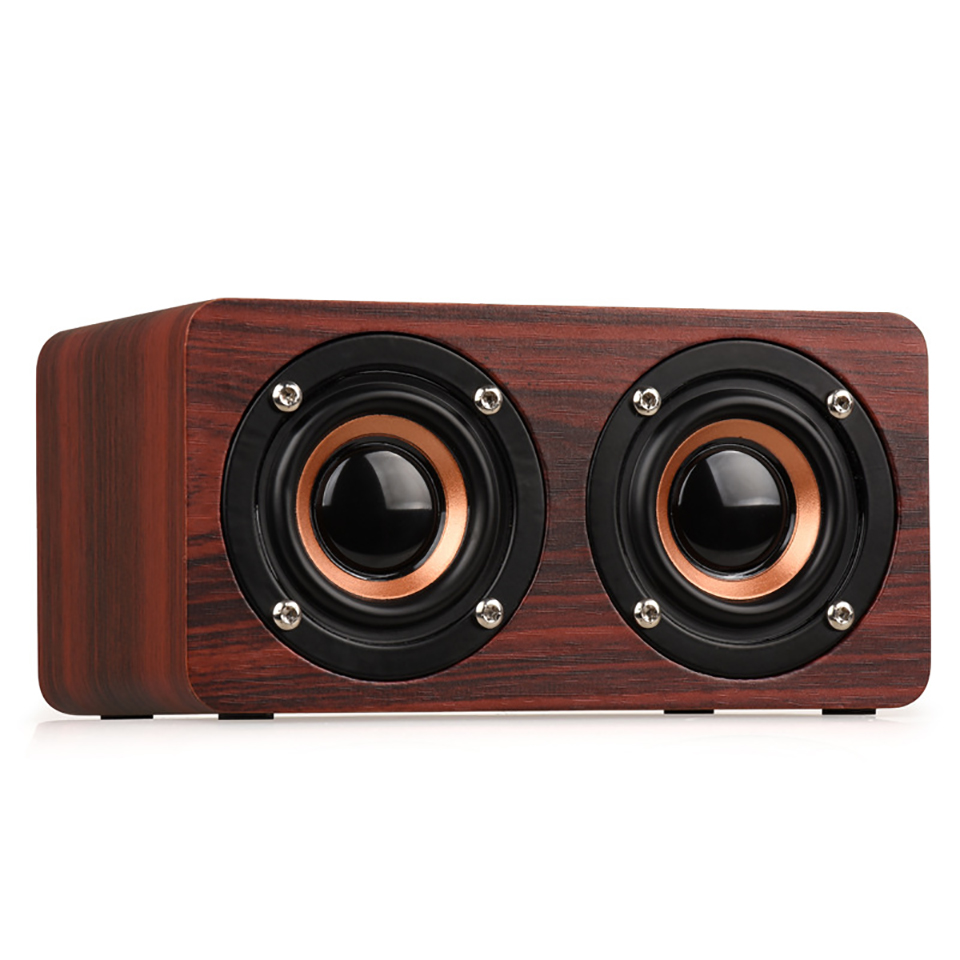MoreBlue W5 Wooden Wireless Bluetooth Speaker HIFI Super Bass Sound Box Double Trumpet Louderspeaker Support TF Card With HD Mic(China (Mainland))