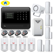 G90B-PLUS WiFi GSM GPRS SMS Home House Burglar Security Fire Alarm System Detector Sensor Kit Gas Detector Door Close Reminder