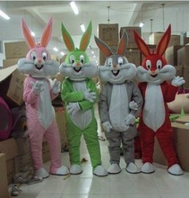 High quality Adult size Cartoon bugs bunny rabbit Mascot Costume mascot cosplay halloween costume christmas Crazy Sale