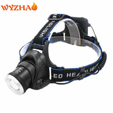AA Head lamp T6 LED ZOOM 5000LM Rechargeable Head light headlamp miner's lamp The portable Headlight mining lamp accent light