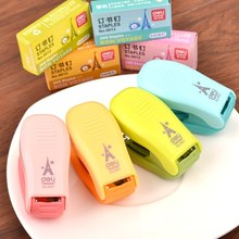 1 Pieces Hot Sale New Cute Candy Color School Office Mini Stapler Book Sewer with Free Staple