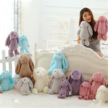Easter Decoration 50cm(20inch) Easter Bunny Stuffed Animals short Plush Rabbit toys gifts for children Baby Plush toys 7 colors