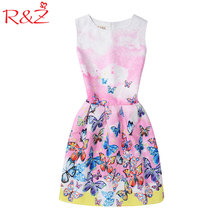 6-20Yrs Girls Dress For Christmas Party Dress Teenagers Wear High quality Sleeveless LaceCasual Vestido,Girls Summer Clothing(China)