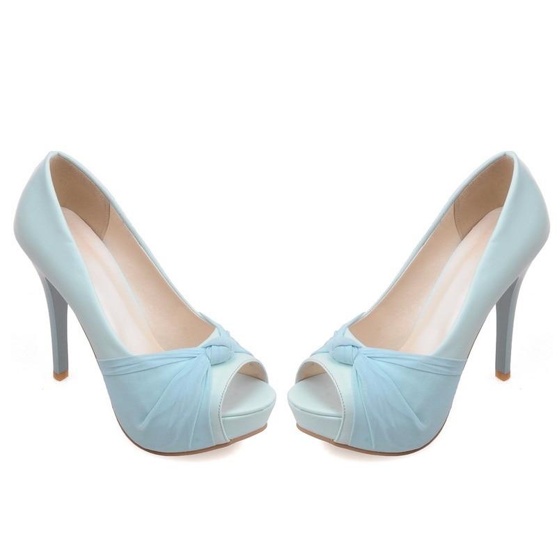 MORAZORA Hot sale new shoes woman pumps big size 33-43 platform shoes high heel 12cm wedding shoes elegant peep toe 10