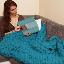 Handwoven Acrylic Coarse Wool Blankets Home Life Winter Keep Warm Soft Comfortable Wool Blanket(China)