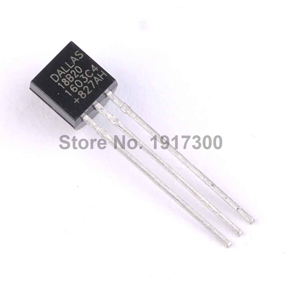 20PCS/lot DS18B20 18B20 TO-92 1-Wire Digital Thermometer 100%  Free Shipping <br><br>Aliexpress