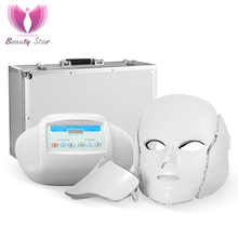 3 Color Photon LED Infrared Facial Neck Mask Skin Microcurrent Massager Rejuvenation Anti-Aging Beauty Therapy Home Use Clinic(China)