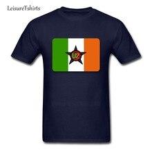 Bandera Nacional de Irlanda camiseta U2 hombres manga corta ronda  Masajeadores de cuello fresco Camisetas Tees b935658af3681