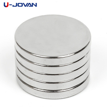 U-JOVAN 5pcs 20 x 3mm N50 Mini Super Strong Rare Earth Fridge Permanet Magnet Small Round Neodymium Magnet
