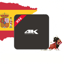 Best Spain Spanish IPTV Box H96 4K Android TV Box For Europe Spain France Turkey Italy Buyer 3500+ LiveTV 25k+ VOD XXX Channels(China)