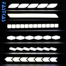 LED DRL Daytime Running Light 100% Waterproof COB White Color Day Light Fog Light Turning Signal Flexible Cars Running Light(China)