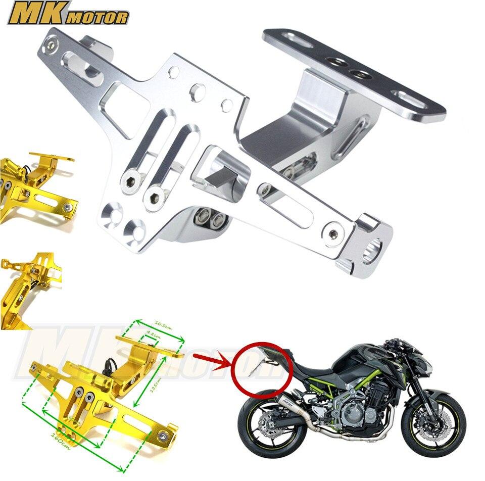 BYSPRINT Motorcycle Adjustable Angle License Number Plate Frame Holder Bracket For Kawasaki Z750 Z800 Z1000 Z1000SX  5color<br>