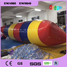 Free Shipping 7*3m 0.9mm PVC Inflatable Trampoline Water Pillo Water Blob Jump Inflatable Jumping Jump Bed On Water Jump Bag