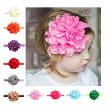 Buy Lovely Baby Girl Elastic Hairband Children Hair Wear Kids Head Band Big Flower Headband Baby Floral Hair Accessories for $1.28 in AliExpress store