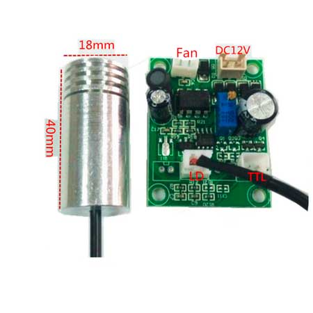 80mw 450nm blue laser diode module with power driver DC12V  18x40mm<br><br>Aliexpress