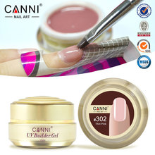 1PC CANNI Nail gel professional 15 color uv builder camouflage jelly uv gel, nails extend gels,natural Nude color uv gels 15ML(China)