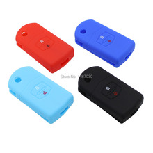 2 Buttons Silicone Remote Fob Key Keyless Case Cover For Mazda M6 M2 Haima