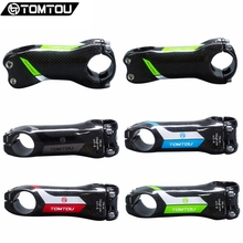 Buy TOMTOU Super Light Full 3K Carbon Bike Stem Angle 6/17 Degrees Mountain Road Bicycles Parts 70/80/90/100/110/120/130mm for $22.99 in AliExpress store