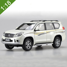 HOT SALE TOYOTA White PRADO 1:18 Original car model TOYOTA PRADO SUV Toy Luxury cars Classic cars Collection Birthday gifts