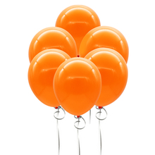 50pieces 12 inch round black latex balloon Halloween birthday party balloon wedding decoration Toys orange and black(China)