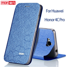 Huawei Honor 4C pro Huawei y6 pro case fluffy 4cpro cover flip case luxury leather huawei y6pro case mofi fundas honor 4c pro(China)