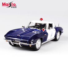 Maisto 1965 Chevrolet Corvette 1:18 Scale Metal Car Model Alloy Toys Diecasts & Toy Vehicles  Collection Gift